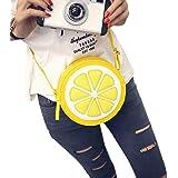 GBSELL Fashion Round Fresh Yellow Lemon Shoulder Cross-Body Bags