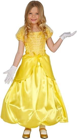 Guirca – Disfraz Princesa, niña, Oro,, 004.gu83200: Amazon.es ...