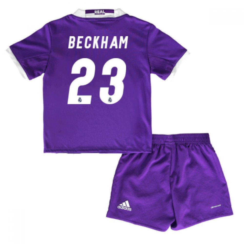 2016-17 Real Madrid Away Baby Kit (Beckham 23) B077WJHCKNPurple 5-6 Years