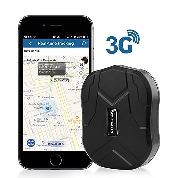 GOLOPHY Rastreador GPS 3G, localizador en Tiempo Real, rastreo preciso para Coche, Motocicleta