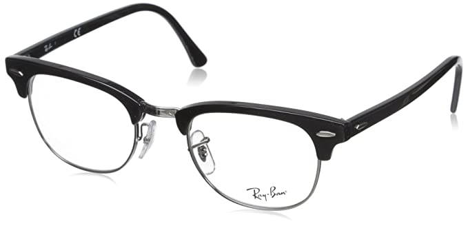 7c5254ff8d9 Image Unavailable. Image not available for. Color  Ray-Ban Unisex-Adult  Clubmaster 0RX5154 No Polarization Square Eyeglasses