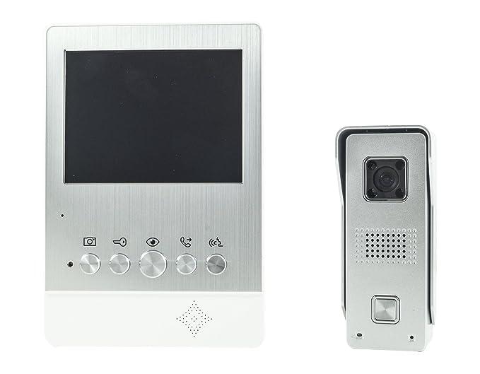 Kit videocitofono monitor pollici telecamera esterna led