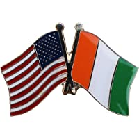 ALBATROS Pack of 24 USA American Ivory Coast Cote Flag Hat Cap Lapel Pin for Home and Parades, Official Party, All Weather Indoors Outdoors