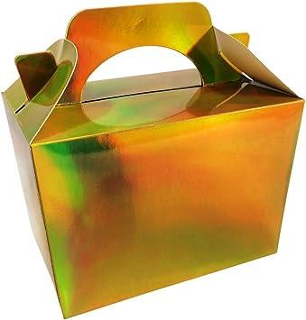 Diamante Crafts Partido 10 Cajas Color Sólido Liso Cartón Almuerzo Comida Sorpresa Invitar Caja 20 Colours - 10 Liso - Metálico Oro: Amazon.es: Juguetes y juegos