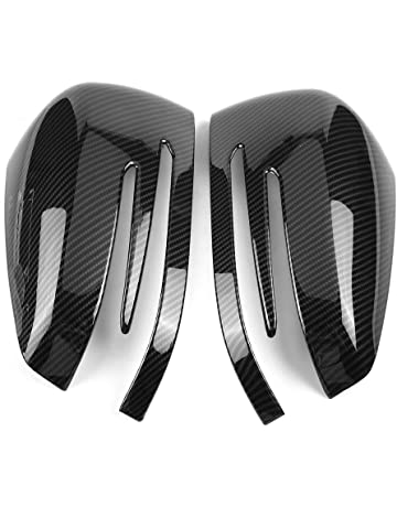 Cubierta del espejo retrovisor, lado de fibra de carbono Vista posterior de la cubierta de