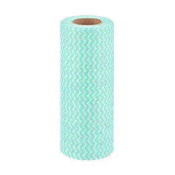 Paños de limpieza desechables de un rollo, paños de cocina, toallas multiusos, absorbentes, reutilizables, toallitas de limpieza prácticas 50 Pcs/roll ...