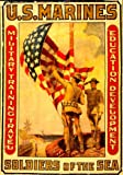 1913 Poster showing marines raising an American flag.
