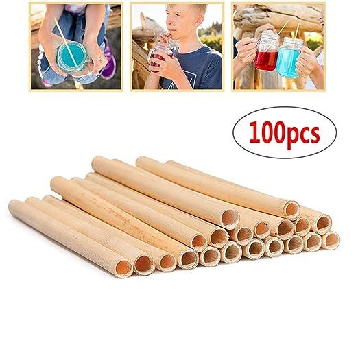 100 piezas Pajitas de trigo, Pajitas naturales, Pajitas de ...