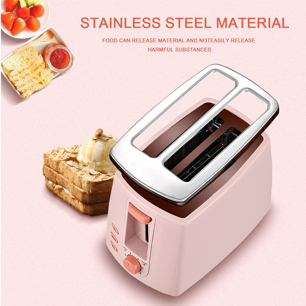 Gyswshh 2-slice Automatic Electric Toaster, Breakfast Maker,Household Bread Toast Machine Pink by Gyswshh (Image #2)