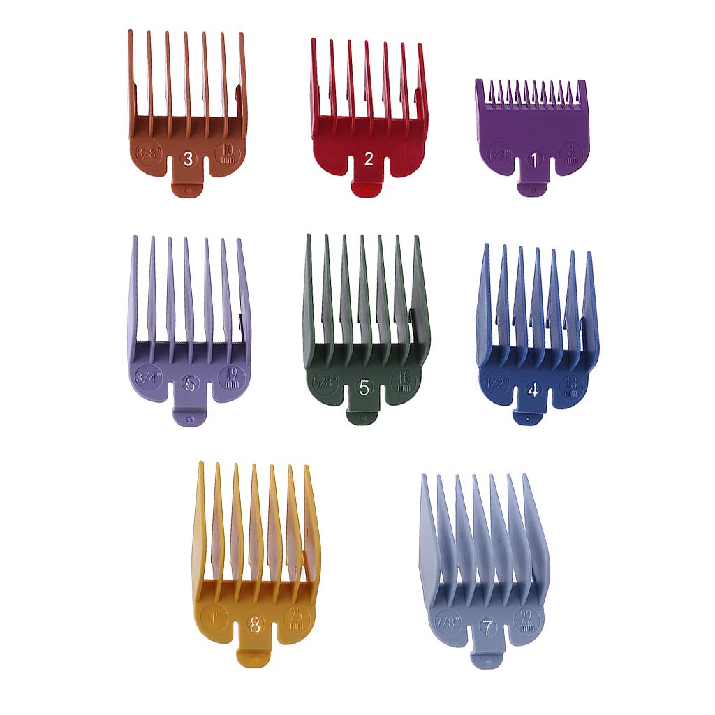 Thobu 8 Pieces Universal Hair Clipper Limit Comb Guide Attachment Size Barber Replacement