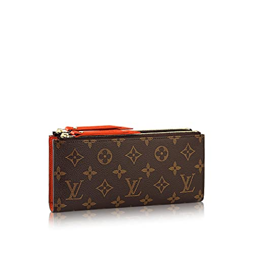 Louis Vuitton Monogram lienzo Chili rojo Adele Wallet m61270: Amazon.es: Zapatos y complementos
