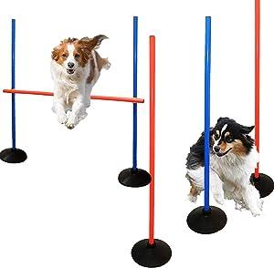AKA Dog Agility Training Set-Weave Pole  Jump Ring  Hurdle