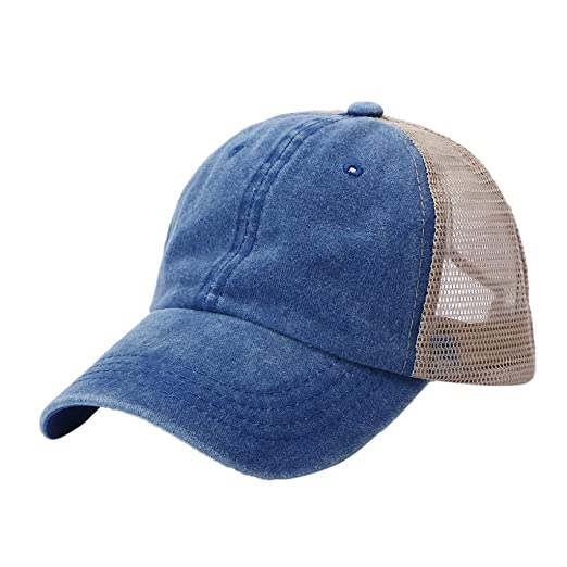 5f909ebe Benficial Men Women Washed Twill Cotton Baseball Cap Vintage Adjustable Dad  Hat Blue