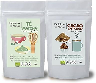 Pack de Te Matcha (100g) y Cacao en Polvo (200g) | Orgánicos ...