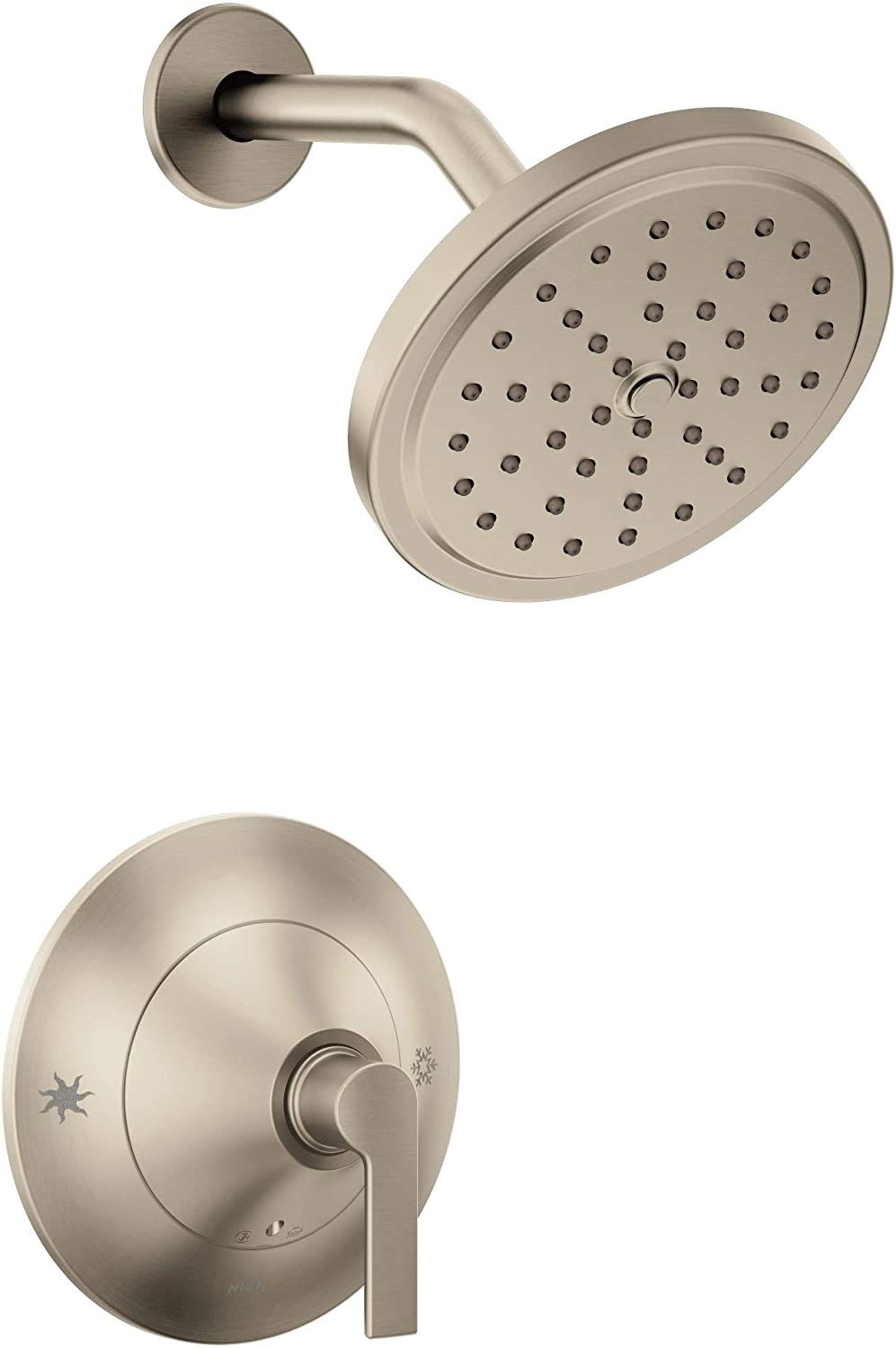 Moen TS2202BN Doux Posi-Temp Shower Only Kit, Valve Required, Brushed Nickel