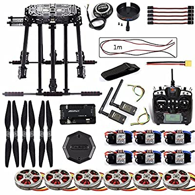FEICHAO DIY Frame Kit ZD850 APM 2.8 Flight Control M8N GPS 3DR Telemetry Motor ESC for RC Hexacopter from FEICHAO