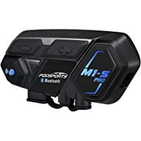 Bluetooth Communication System, M1-S Pro Motorcycle Intercom Headset Interphone for Motorbike and Skiing (Range Upto…