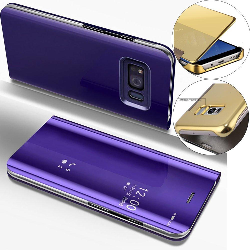 Funda Samsung Galaxy S6 Edge, Carcasas para Galaxy S6 Edge LEMAXELERS Galaxy S6 Edge Funda de lujo con espejo Caja de maquillaje con marco de cuero de la PU Flip Bookstyle Funda con billetera [Pie de apoyo] Cierre magnético Funda protectora de cuerpo compl