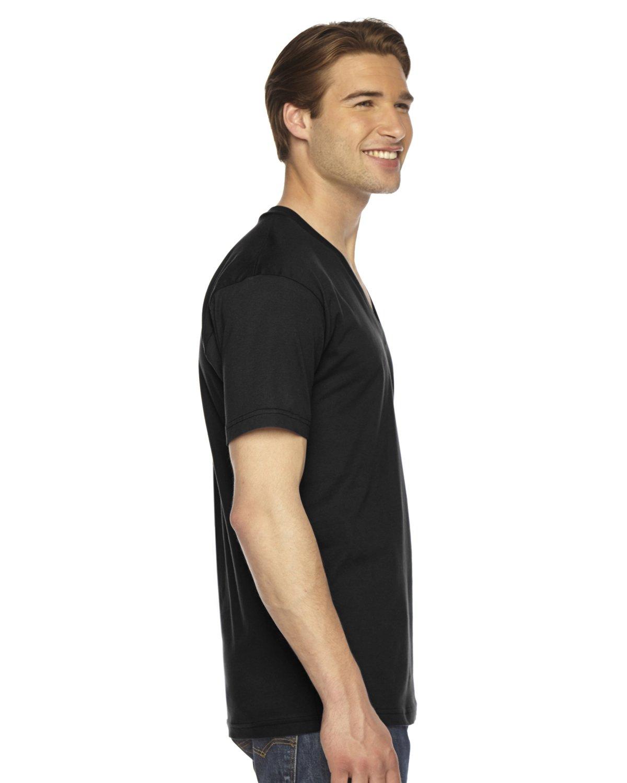 American Apparel 2456W Unisex Fine Jersey Short-Sleeve V-Neck T-Shirt Black 2XL by American Apparel (Image #2)