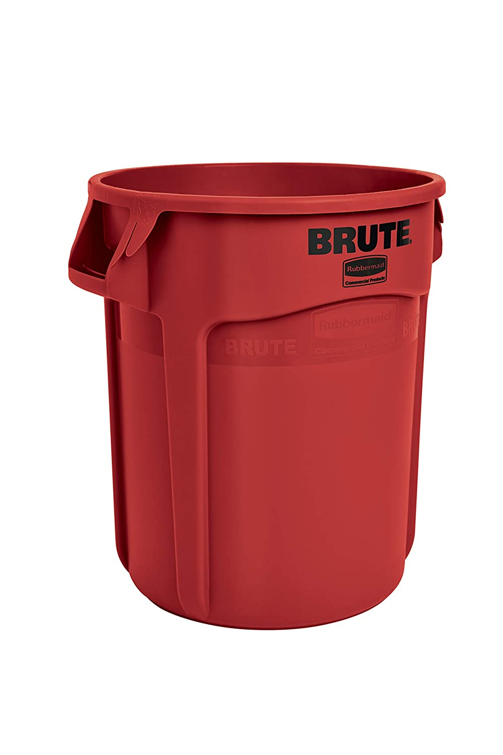 Rubbermaid Commercial Products FG261000RED BRUTE Heavy-Duty Round Trash/Garbage Can, 10-Gallon, Red