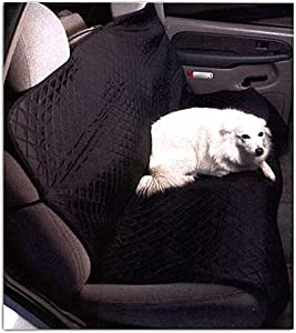 Quilted Pet Seat Cover for Bench Style Seat, 57x46. Black w'Diamond Pattern.