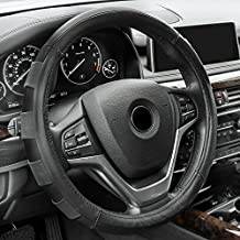 FH Group FH2005BLACK Steering Wheel Cover (Genuine Leather Sport Black)