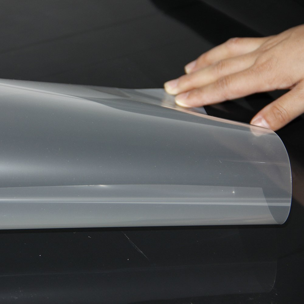 HOHO Transparent Screen Film Holographic Projector Rear Projection Film Self Adhesive Sticker,60x70.