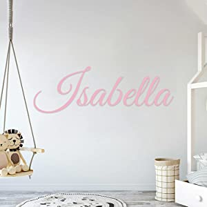 Multiple Font Custom Name Nursery Wall Decal - Mural Wall Decal Sticker for Home Children's Bedroom, Car & Laptop (OP002)