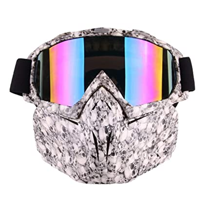 Kongqiabona Motorcycle Goggles Helmet Mask Detachable Ski Bike Motocross Goggles Helmet Motorcycle Glasses Mask Outdoor Sports Glasses