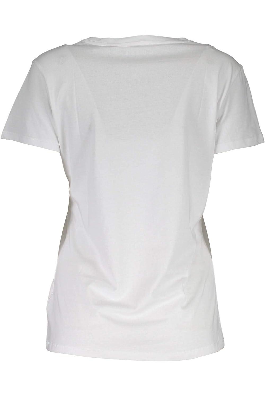 Guess Damen Ss Cn Flowers Tee T Shirt, Weiß (True White A000