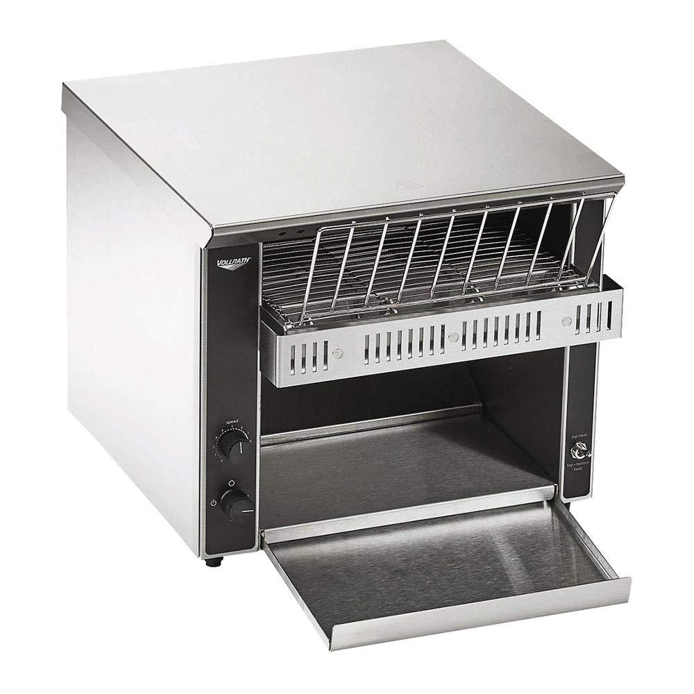 Vollrath CT2B-120500 Horizontal Conveyor Bagel & Bun Toaster, Stainless Steel, 120v, NSF