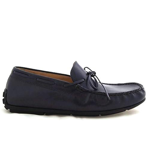 Soldini - Mocasines de Cuero para Hombre Azul Turquesa: Amazon.es: Zapatos y complementos