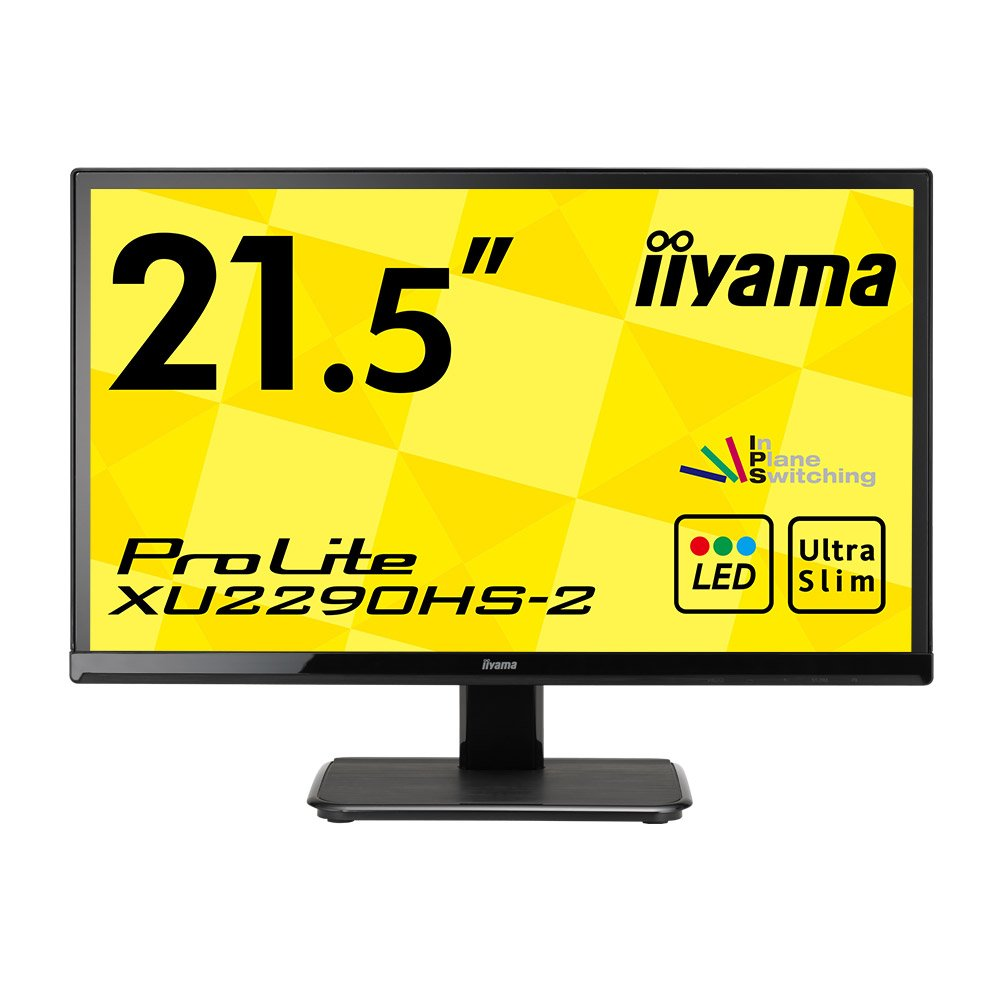 iiyama モニター ディスプレイ XU2290HS-B2 (21.5インチ/フルHD/AH-IPS/HDMI,D-sub,DVI-D/3年保証)