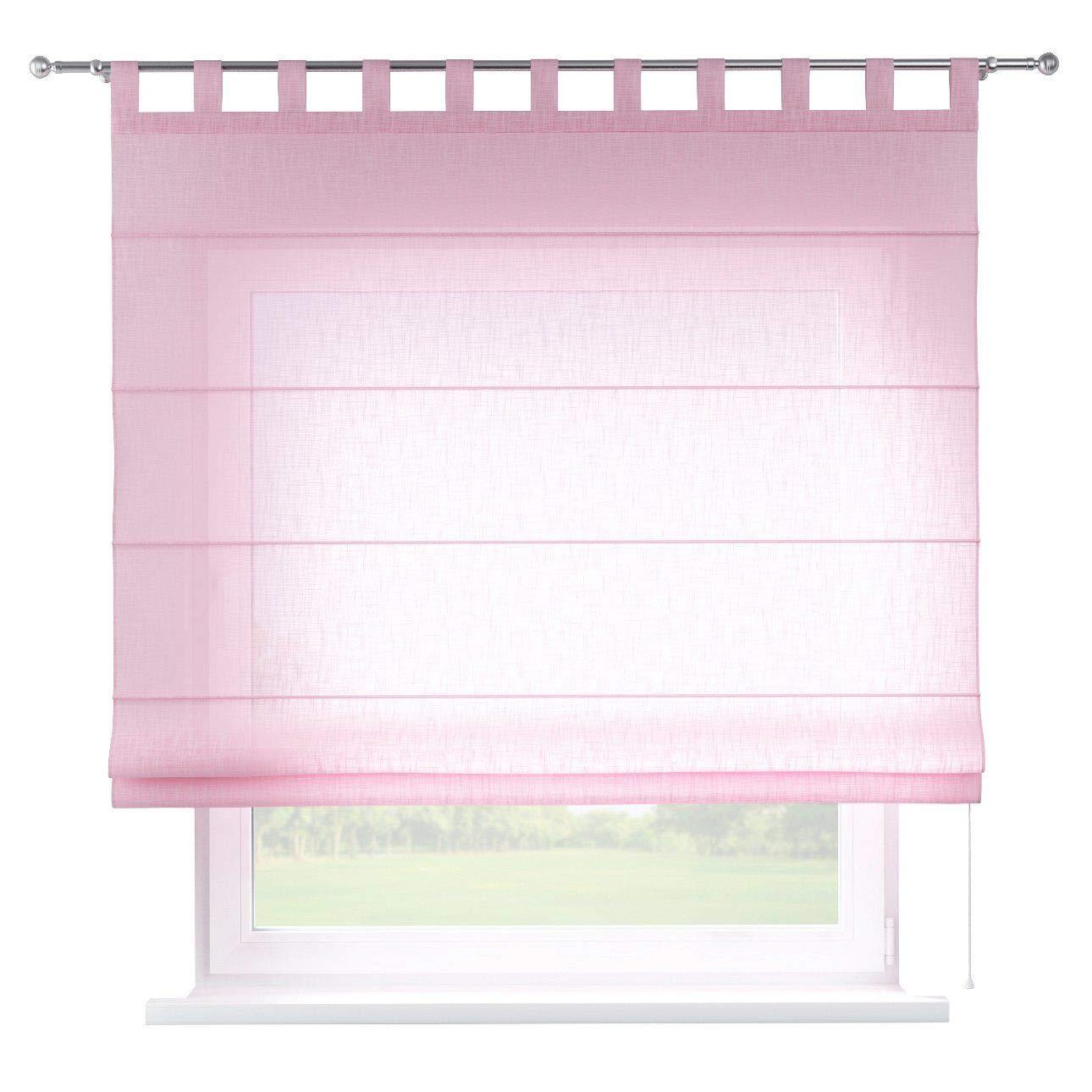Dekoria Raffrollo Verona ohne Bohren Blickdicht Faltvorhang Raffgardine Wohnzimmer Schlafzimmer Kinderzimmer 160 × 170 cm rosa Raffrollos auf Maß maßanfertigung möglich