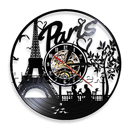 Cheap The Geeky Days Sewing Vinyl Record Wall Clock Sartorius Stitching Decorative Quilting Wall Clock Modern Home Decor Gift for Fashion Store Fashion Designer (Without LED)