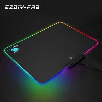 LED Lighting RGB Large Gaming Mouse Pad Comfortable Playing Keypad 3Size OZ