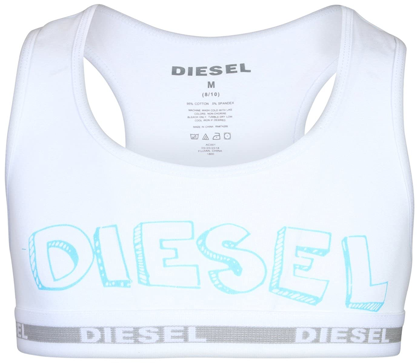 4 Pack Diesel Girls Cotton//Spandex Racerback Sports Training Bra