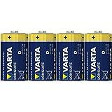 Varta Longlife Batterie D Mono Alkaline Batterien LR20-4er Pack (Design kann abweichen)