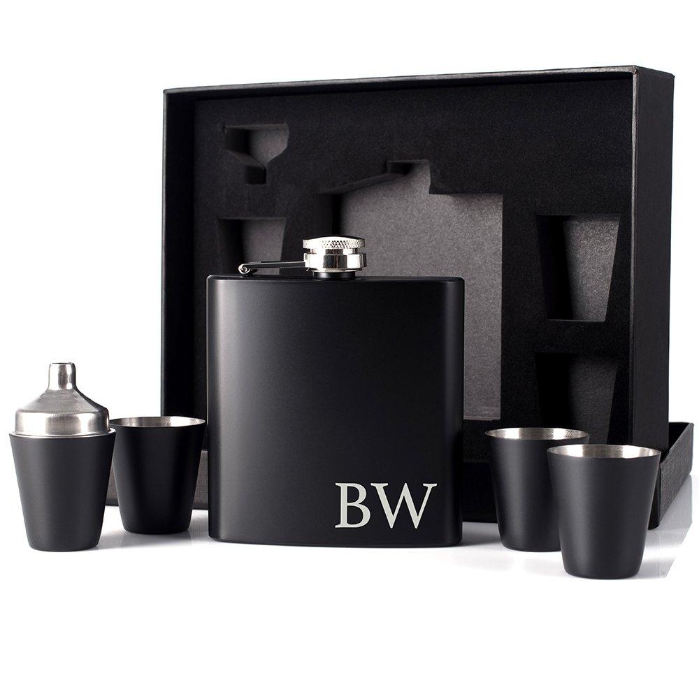 【完売】  PラボGroomsmen Gift – ギフトメンズ6オンスヒップフラスコカスタマイズギフトウェディングFavor ブラック B073DRNZVN、マットブラック ブラック PLABFLASKWED-10 PLABFLASKWED-10 B073DRNZVN, アグニソン:156090af --- a0267596.xsph.ru