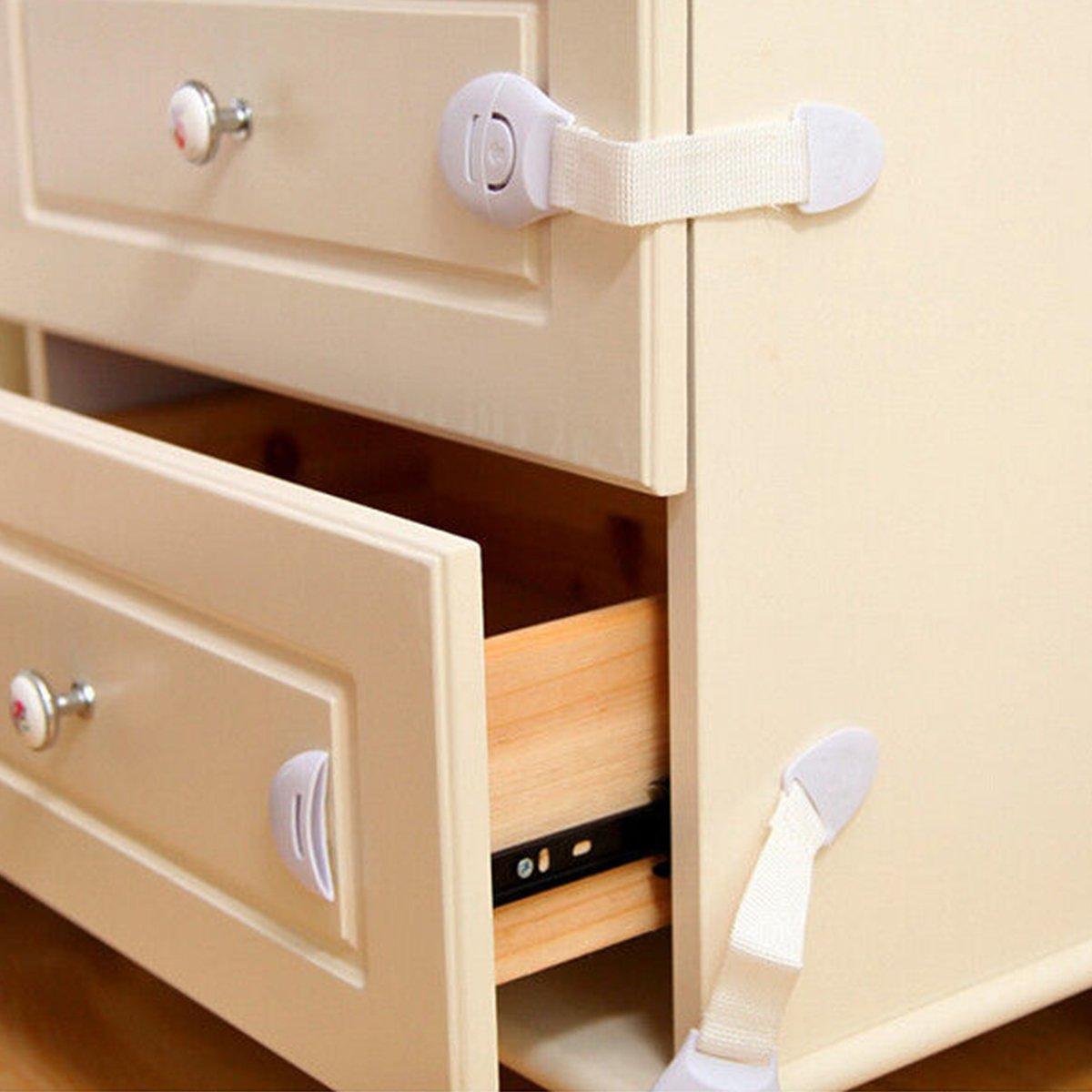 XCSOURCE/® 10PCS Baby Infant Child Safety Cabinet Door Fridge Drawer Lock Cupboard Safe MT220
