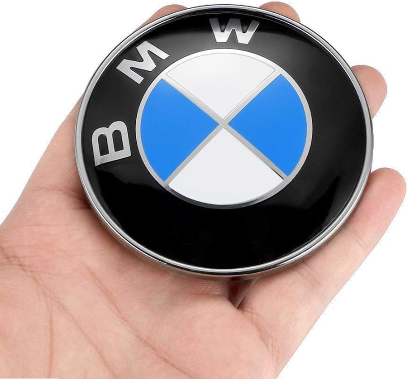 Ldntly 2pcs BMW Logo,BMW Emblem Replacement for BMW Hood or Trunk,Front 82mm and Rear 74mm Emblem Badge Blue /& White,for ALL Models BMW E30 E36 E46 E34 E39 E60 E65 E38 X3 X5 X6 3 4 5 6 7 8