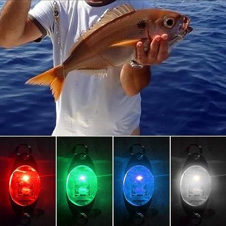 Nrpfell Deep Drop LED Angellicht Fischk/öder Licht Unterwasserfisch anziehende Lampe Angelk/öder LED Blinklicht