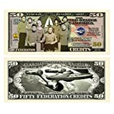 Limited Edition Star Trek 50th Fifty Year Anniversary Collectible Bill in Currency Holder by American Art Classics