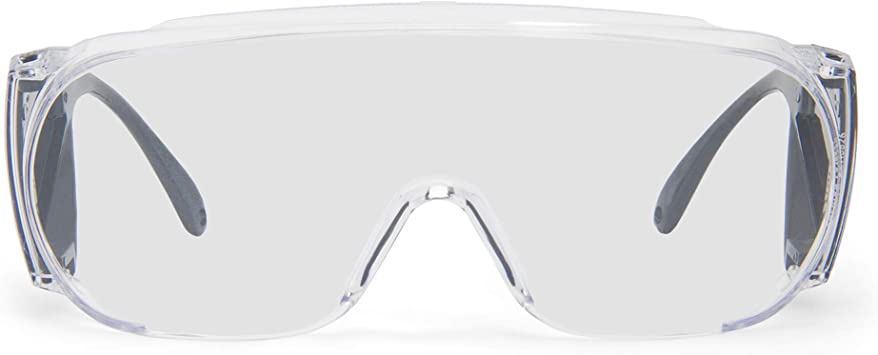 Lot Of 5 Willson 11180029 UP001 Polysafe Clear Protective Glasses NEW