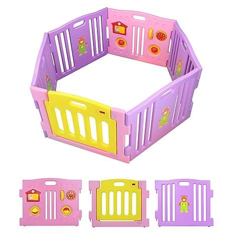 BEBEHUT® Box Bimbo recinto Bimbo Barrera protectora plástico Box para niños grande Seguridad Barrera 3601