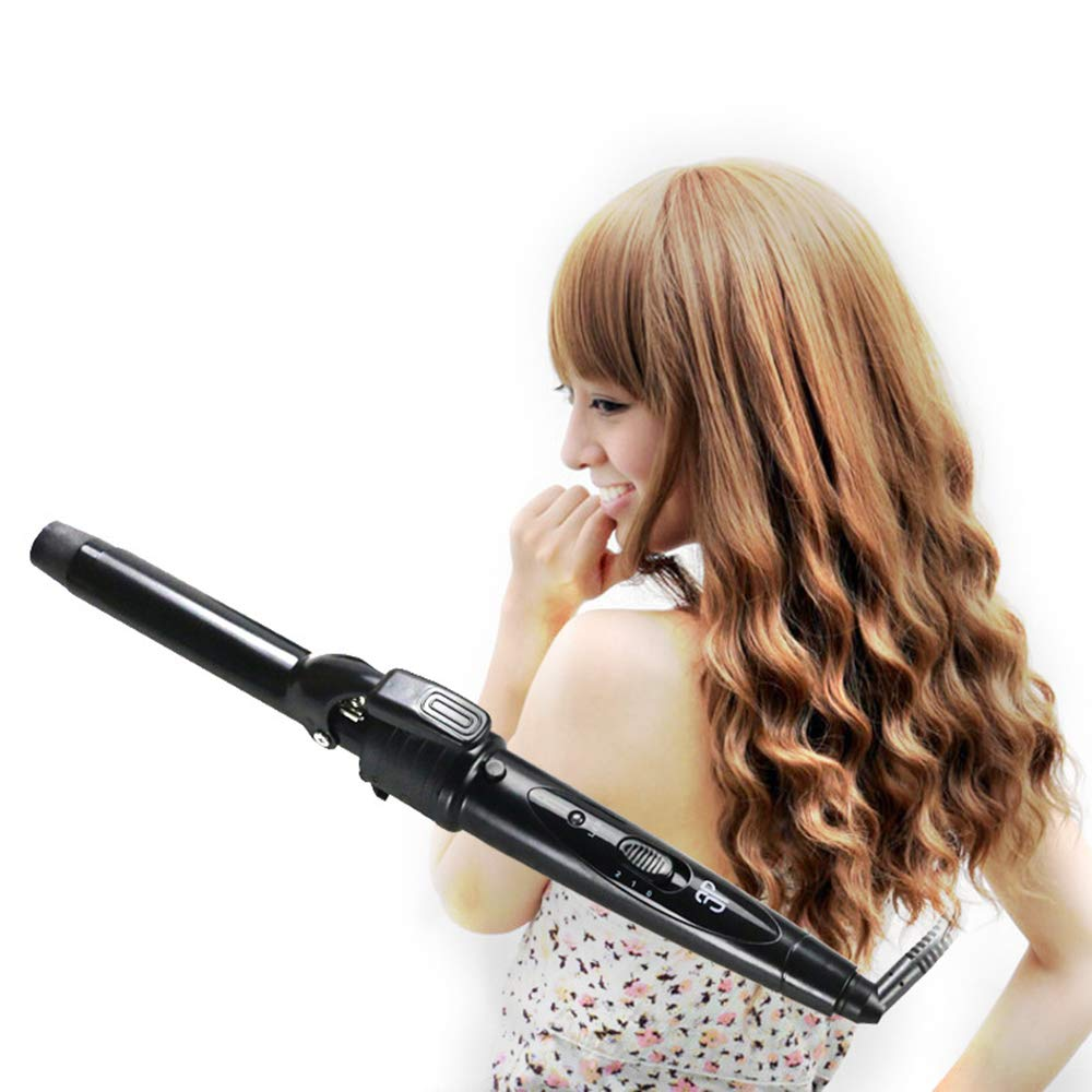 Hairbrush 3 in 1 Tube Change 3p Tube Curling Device Automatic Ceramic Hair Curler for Any Hair by Bycws (Image #2)