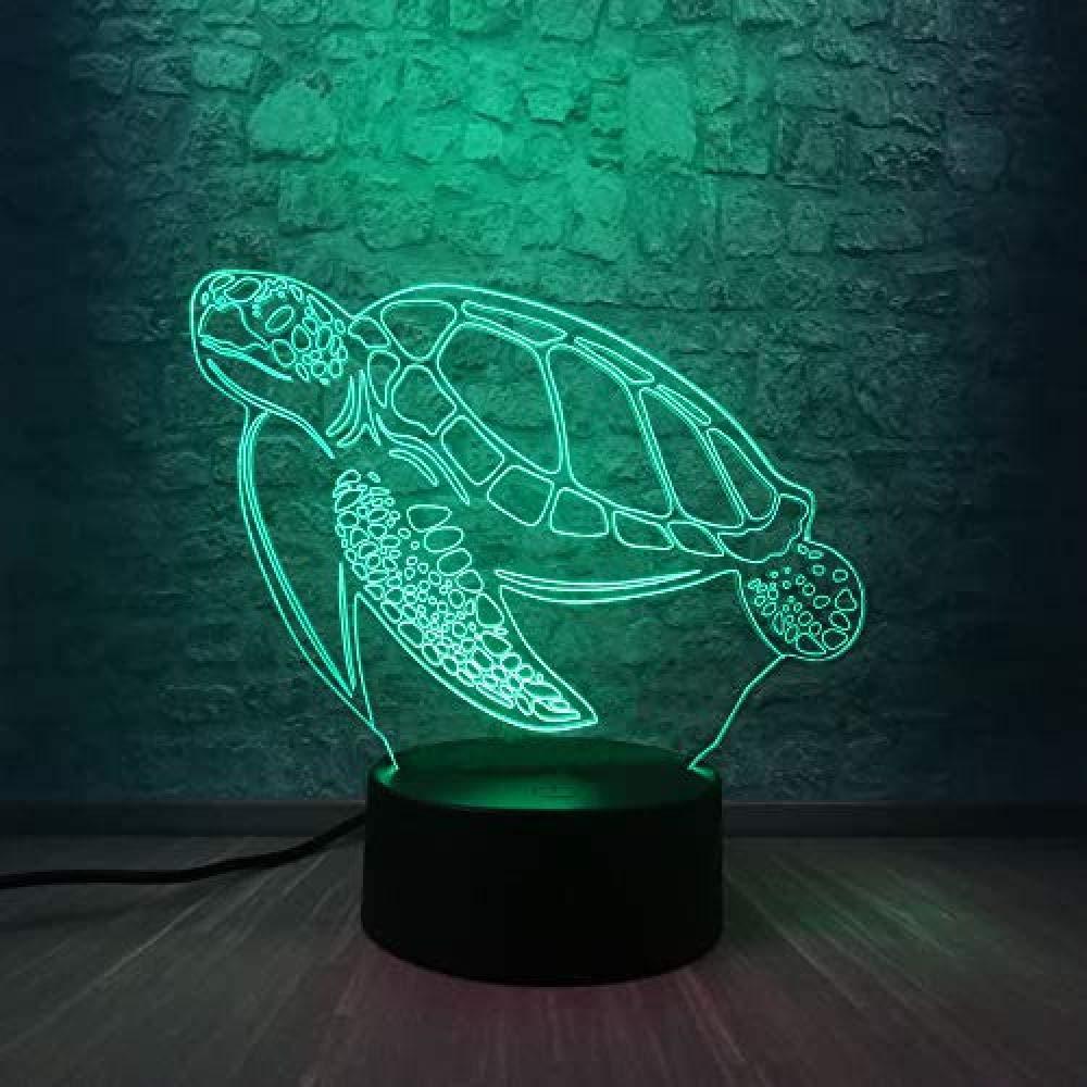 3D Light/Desk lamp//Turtle/Light up Alarm Clock/Gifts for Mothers/Room Decoration/Fat Screen-/Wolverine/