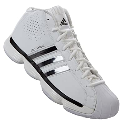 WeißSchwarz Herren Adidas Pro Model 2010 Basketball Schuhe