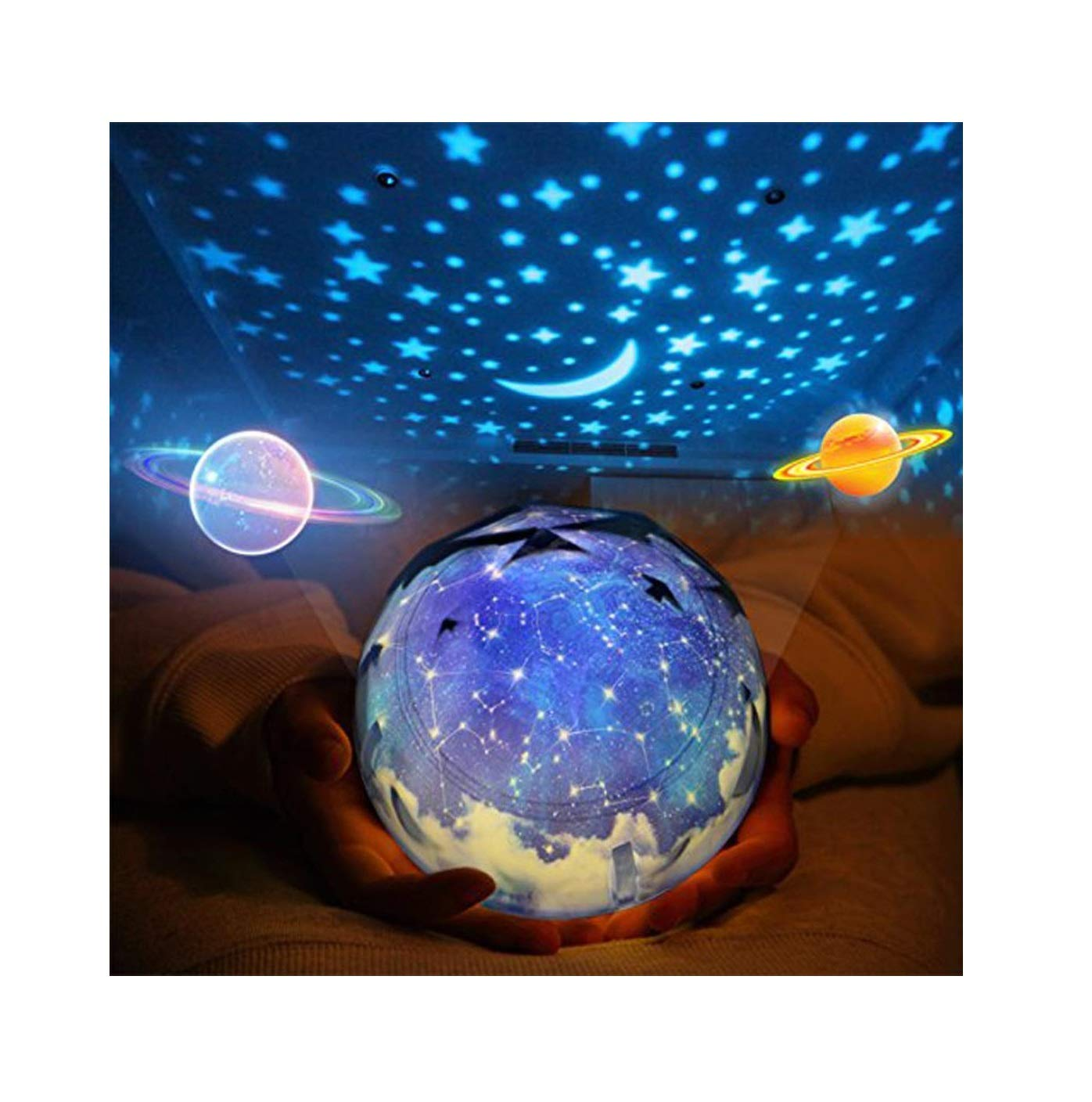 Sleep Soother Aurora Projection LED Night Light Lamp,Relaxing Light Show for Baby Kids and Adults, Mood Light for Baby Nursery Bedroom Living Room by Rambling