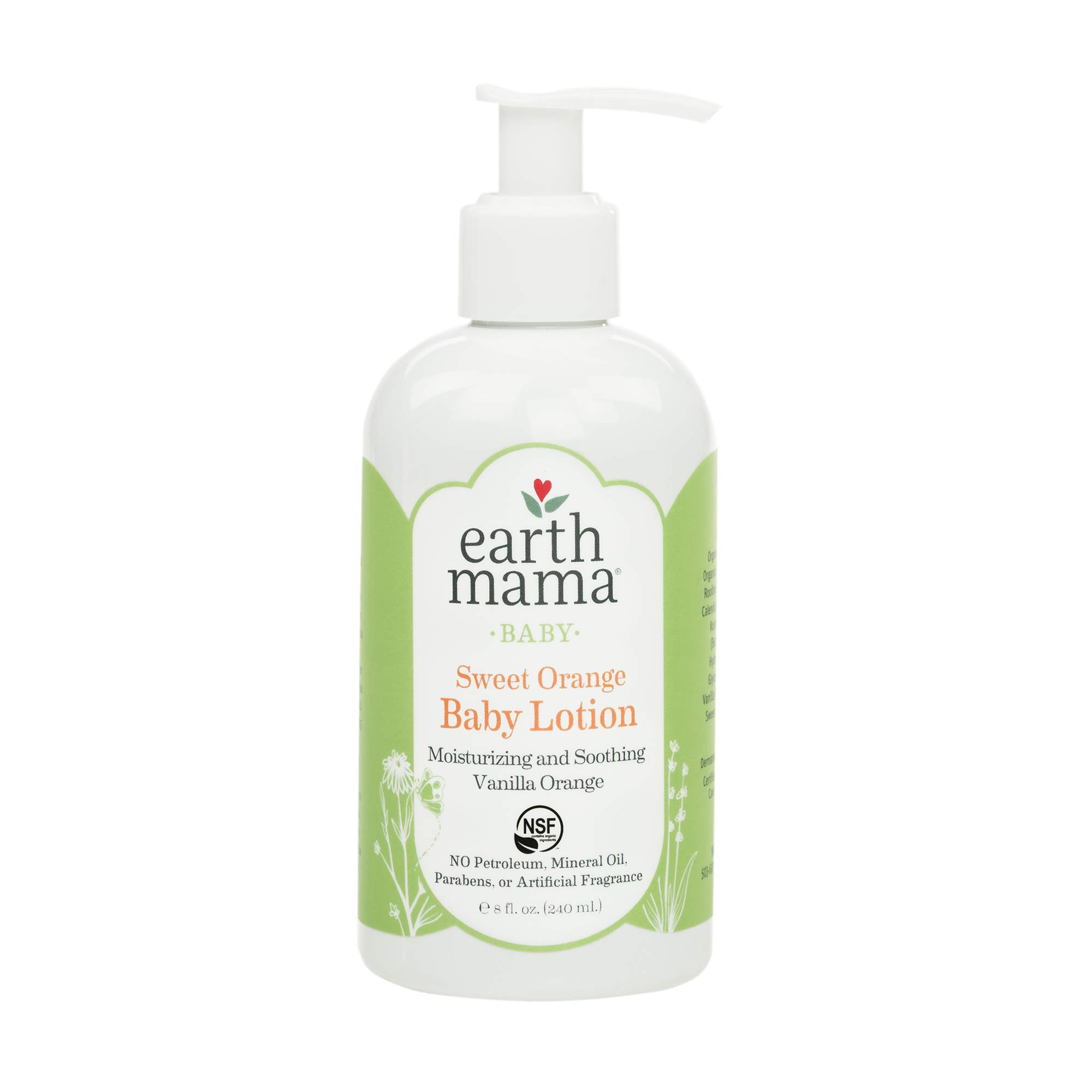 Earth Mama Baby Lotion, Sweet Orange, 8 Fluid Ounce (Pack of 3) by Earth Mama Angel Baby